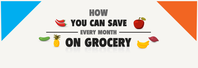 Infographic – How You Can Save Every Month on Grocery ?
