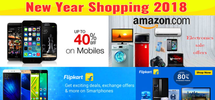 Light up your New Year Shopping with Amazon and Flipkart New Year 2018 Sale