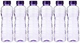 Princeware Victoria PET Fridge Bottle, 975 ml, Set of 6, Violet