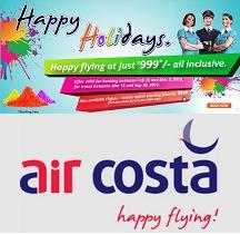 Aircosta Happy Holidays Flying at Just Rs.999
