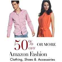 Amazon Fashion Sale - Clothing, Footwears & Accessories On Sale Flat 50% OFF