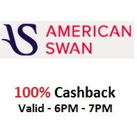 American Swan - 100% Cashback When pay with Mobikwik Wallet [Today, 6PM t..