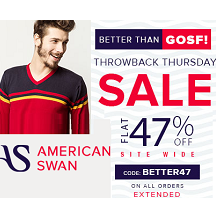 American Swan Christmas Sale - 68% OFF + Extra 47% OFF with No Minimum Purchase