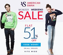 Americanswan Wowzer Weekend Sale - Flat 51% OFF on All Products