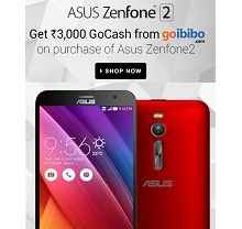 Asus Zenfone 2 Mobile + Rs.3000 Go Cash Rs.12999 From Flipkart.com