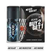 Axe Set Of 3 Deodorants Marine Musicstar And Blast (Buy 2 Get 1 Free) At ..