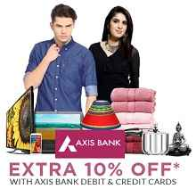 Axis Bank Debit and Credit Card 10% Cashback On Rs.4999 From Flipkart.com