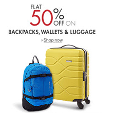 Bags, Wallet & Luggage Flat 50% OFF Starts Rs. 99 From Amazon.in