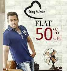 Being Human Clothing Flat 50% OFF From Amazon