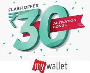 Bookmyshow : Activate #MyWallet and Get Free Rs.30 Cash! Offer valid till..