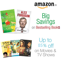 Books, Music, Movies & Tv Shows Upto 91% OFF Starting Rs.20
