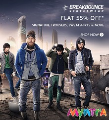 Breakbounce Clothing Flat 55% OFF From Myntra.com