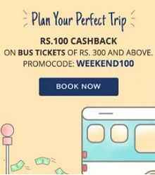 Bus Ticket Booking Rs. 100 Cashback on Rs. 300 From Paytm.com