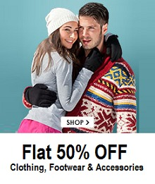 Clothing, Footwear & Accessories Flat 50% OFF + Extra 5% OFF (Payumoney)