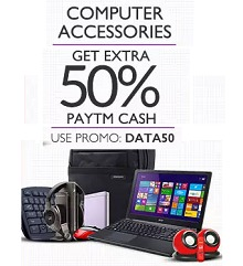 Computer Accessories Extra 50% Cashback From Paytm.com