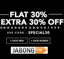 Cothing Men's & Women's Flat 30% OFF + Extra 30% OFF From Jabong.com