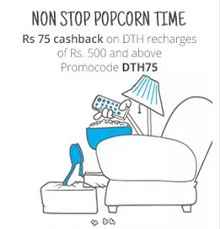 DTH Recharge Rs.75 Cashback On Rs.500 From Paytm.com