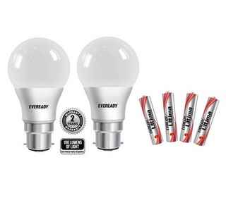 Eveready CLFs & LEDs upto 58% off + Free Alkaline Batteries at Snapdeal
