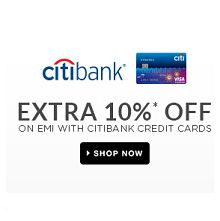 Extra 10% OFF on Rs. 7500 CITIBank Credit Cards on EMI From Flipkart