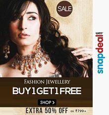 Fashion Jewellery 85% OFF + Buy 1 Get 1 Free || 50% OFF on Rs.799 Starts ..