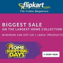 Flipkart Home Shopping Days Biggest Sale - Minimum 50% OFF