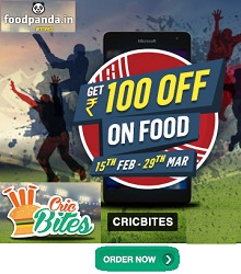 Foodpanda Cricbites - Rs.100 OFF On Rs.300+ Orders (All User)