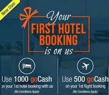 For Your First Transaction on goibibo- Use 1000 goCash for Hotel Booking ..