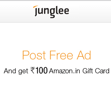 Free Rs. 100 Amazon Gift Card on Posting Ad From Junglee