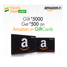 Free Rs. 500 Amazon.in eGift Card on Purchase above Rs. 5000 Amazon Gift ..