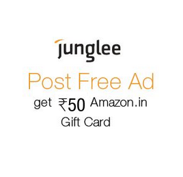 Free Rs.50 Amazon Gift Card on Posting Ad to Sell Old Products From Junglee
