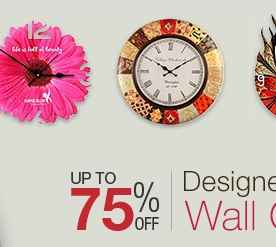Get upto 75 Off On Designer Wall Clocks from Amazon