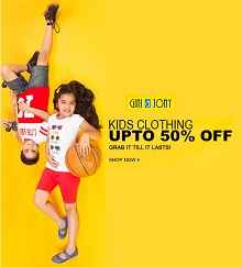 Gini & Jony Kids Clothing Flat 60% OFF + Extra 15% Cashback by Using mobikwik Wallet From Jabong.com