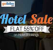 Hotels Flat 55% OFF On No Minimum Purchase From Goibibo.com
