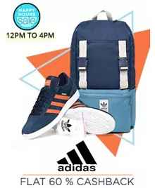 Happy Hours - Adidas Stores Extra 60% Cashback From Paytm.com