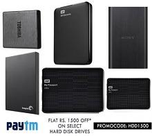 Hard Disk Drive 42% OFF + Rs. 1500 Cashback From Paytm.com