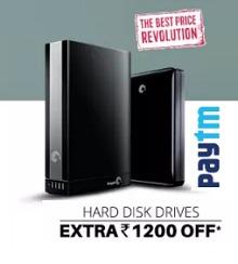Hard Disk Drive Upto 52% OFF + Rs. 1200 Cashback From Paytm.com