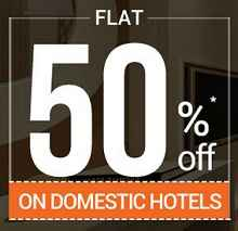 Hotels 50% OFF (No Minimum Fare) From Goibibo.com
