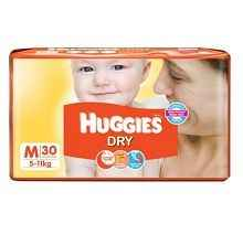 Huggies Dry Diapers Large Size 30 Count Rs.204 (Flipkart First) or Rs.244