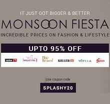 Infibeam Monsoon Fiesta - Upto 95% OFF + Extra 20% OFF on Fashion & Accessories
