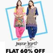 Jaipuri Kurti Flat 60% OFF Starts Rs.400 From jabong.com