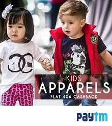 Kids Frocks & Dresses Upto 70% OFF + Extra 40% Cashback From Paytm.com