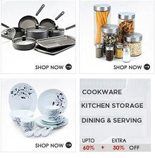 Kitchenware Up to 60% OFF + 30% OFF on Rs.1499 From Snapdeal.com
