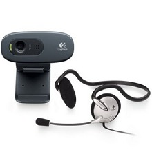 Logitech C270h HD Webcam and Stereo Headset Rs.899 From Amazon.in