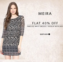 Meira Women's Clothing Flat 40% OFF From Myntra.com