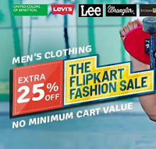 Men's Clothing Extra 25% OFF || Women's Clothing Extra 30% OFF On No Minimum Purchase From Flipkart.com