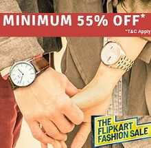 Minimum 55% OFF On Watches Starts Rs.199 From Flipkart.com