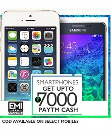 Mobiles 38% OFF + Upto Rs. 7000 Cashback From Paytm.com