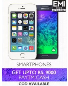Mobiles 38% OFF + Upto Rs. 9000 Cashback From Paytm.com