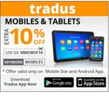 Mobiles & Tablets 10% OFF (Max. Discount 2500) From Tradus.com