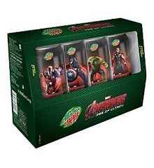 Mountain Dew Avengers Combo Pack, 4x250ml (Collector's Edition) Rs.150